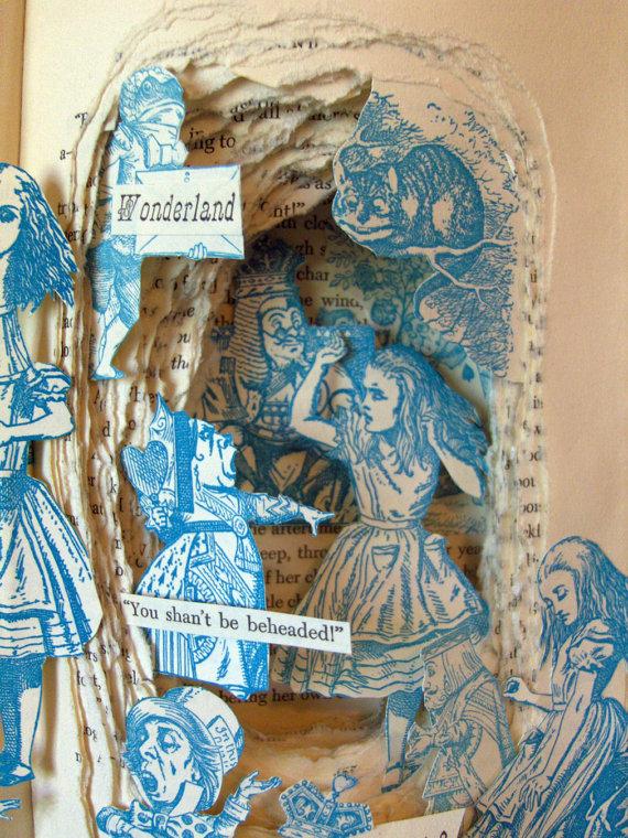 Crafts lit alice in wonderland etsy book arts wizard of oz for Alice in wonderland crafts