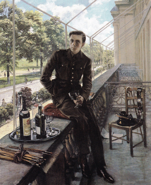 theyearzero:  Rex Whistler 1940 self portrait (by mpt.1607)
