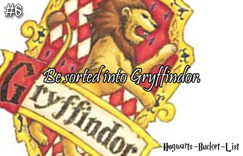 #6 Be sorted into Gryffindor. Reblog if you always dreamed of being sorted into Gryffindor!