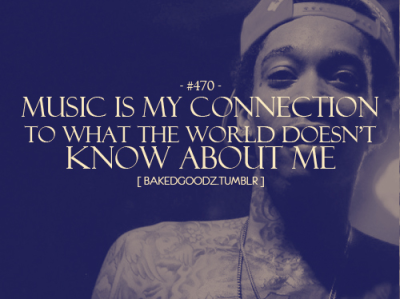 Music is my connection….