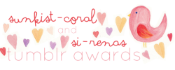 si-renas:  Si-renas and sunkist-coral joint tumblr awards!! We will choose 5-20 blogs for each category to have a link on our blogs for a whole months!! They will get some solos or doubles, screenshots, group promos and celeb urls that we have.  The Catergories: boho summer  serene street style pastle art color color-themed personal photography fan (dedicated to a celebrity, band etc.) hipster fashion vintage animal all time favorites (we might pick 2 from each category) We might add categories  Rules: mbf si-renas and sunkist-coral if you like the banner check out my banner blog reblogs only please  if you have any questions ask me here It'll also help if you follow watermelon-fizz