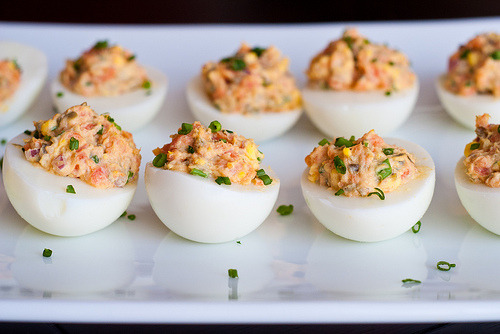 foodofthought:  Smoked Salmon Deviled Eggs