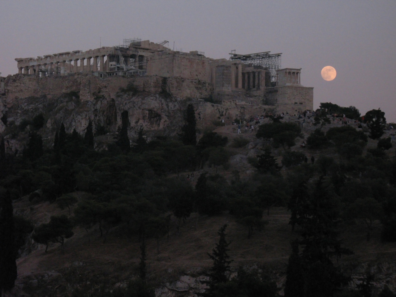 Full Moon and the Acropolis