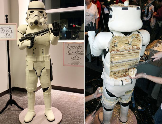 This Storm Trooper cake is a real thing… seriously.    Imgur