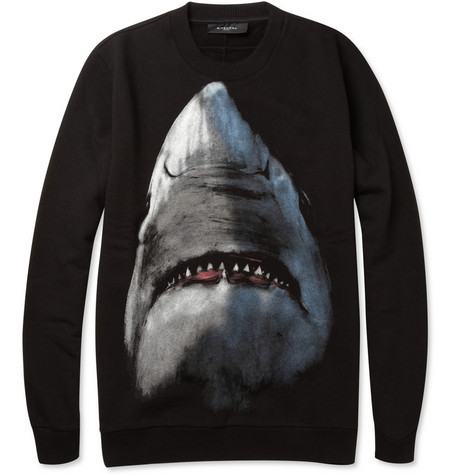 Want: Givenchy Shark-Print Cotton Sweatshirt | MR PORTER