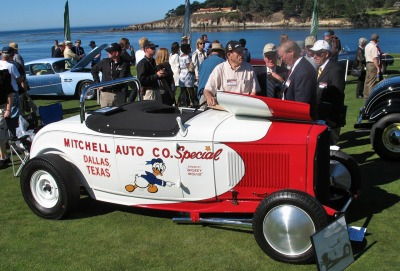 HOT ROD! Beautiful Mitchell Auto Co's competition roadster photographed on the green at the Pebble Beach Concours, August 2007