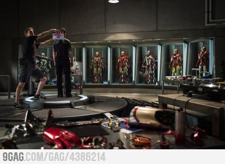 First official photo from the set of Iron Man 3