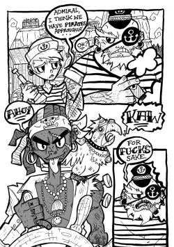 I'm just calling this Pirate Story for now. Gonna tone the next page later on.