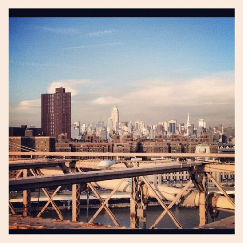 Early morning walk on the Brooklyn Bridge