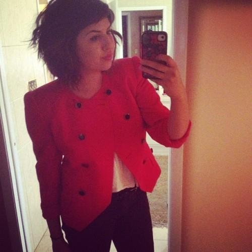 This #blazer is one of the best things I've ever thrifted. (Taken with instagram)