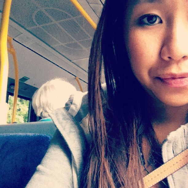only one in the bus who is under 30 #awkward  (Taken with instagram)