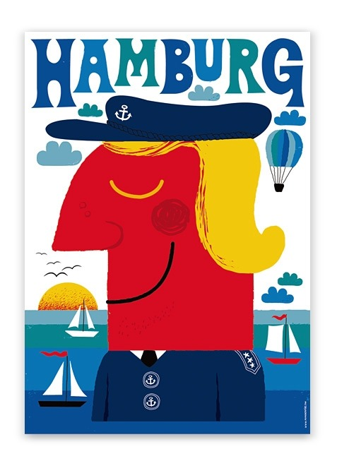 Hamburg Blue poster by Human Empire, Germany.