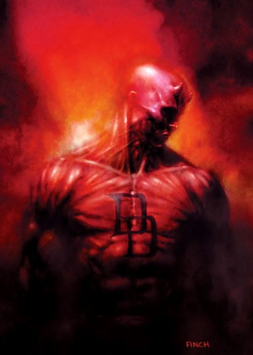 Looks like someone flayed DD's skin off. #ick DAREDEVIL by David Finch