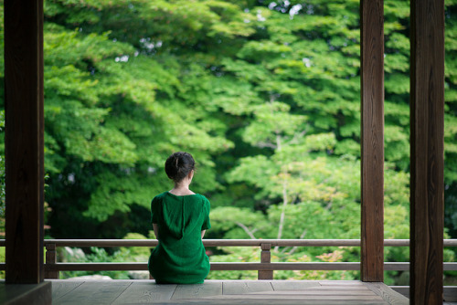 Enjoying a quiet moment in Kyoto by ippei + janine on Flickr.