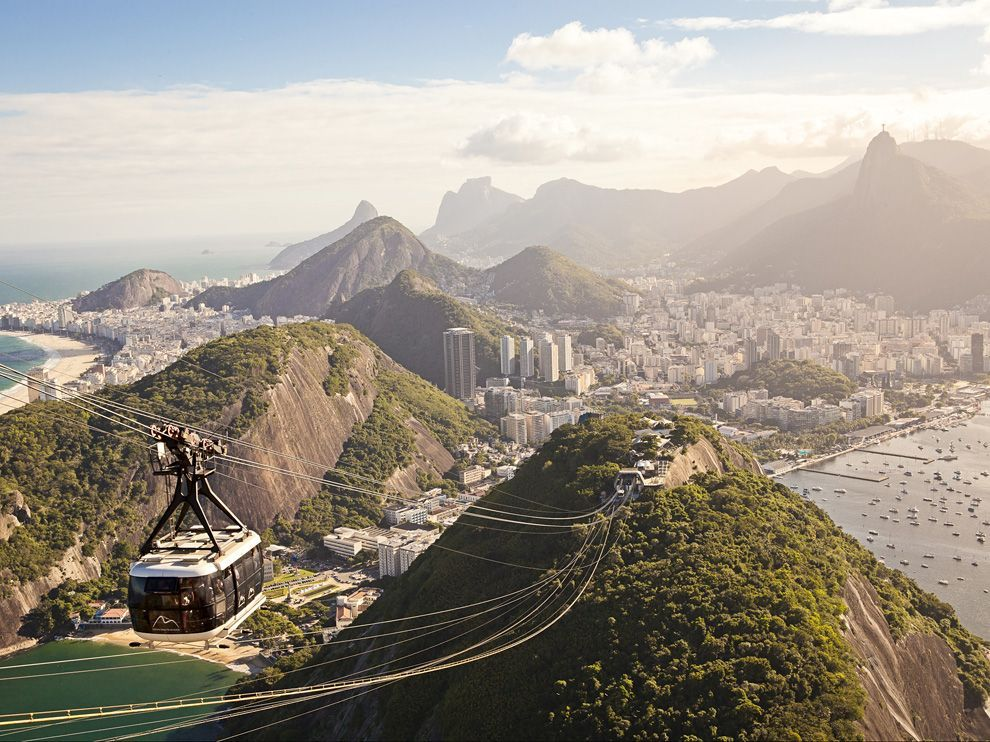 This beautiful landscape image of Rio de Janeiro, Brazil is enough to make my day. Coffee is bonus.