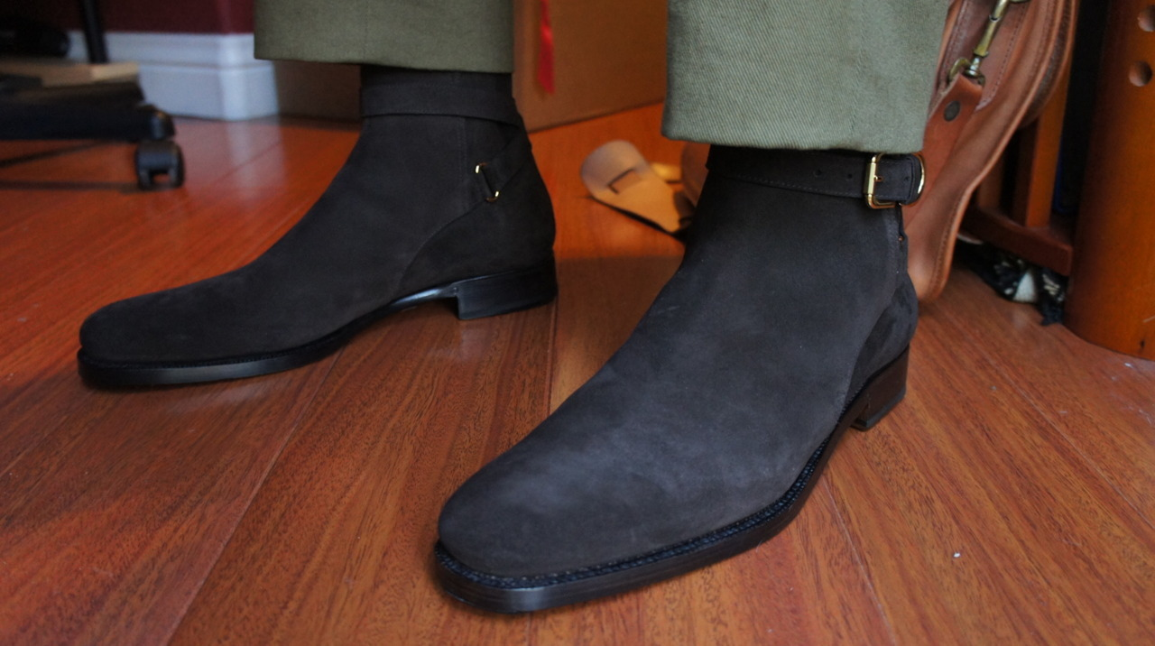 "Ralph Lauren Purple Label ""Macon"" Suede Jodhpur Boot"