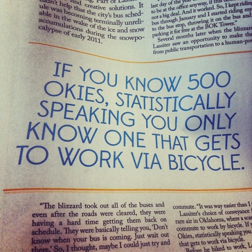 Statistically Speaking… We new to change this! #okc #cycling  (Taken with Instagram at Cafe EVOKE)