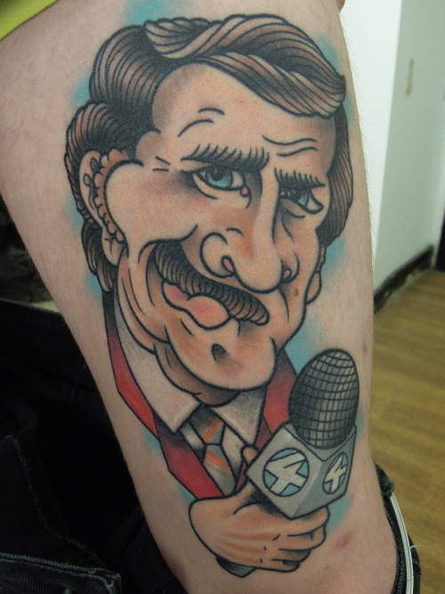 Ron Burgundy healed from a couple of weeks ago.