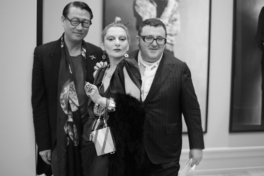 Catherine Baba and Alber Elbaz  Photo by Saskia Lawaks