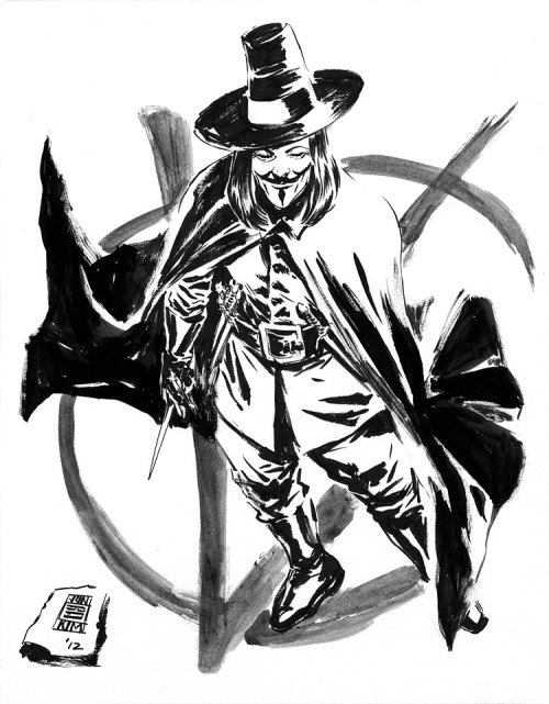 xombiedirge:  V For Vendetta by Jun Bob Kim