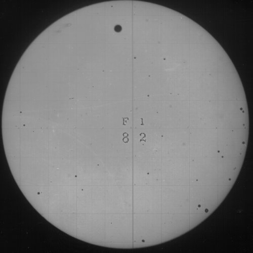 Transit of Venus, 1882. Click to see the full set of photos (and a neat etching of a 1639 observation) at the Public Domain Review. Check out this website from NASA for lots of info about today's Transit of Venus. Remember to use safe viewing options if you're planning on watching. You can watch a live webcast from Mauna Kea, Hawaii if you can't make it to any live parties or if you're not in the viewing path. The webcast will begin at 9:45pm UTC (11:45am local Hawaiian time or 5:45pm EST).