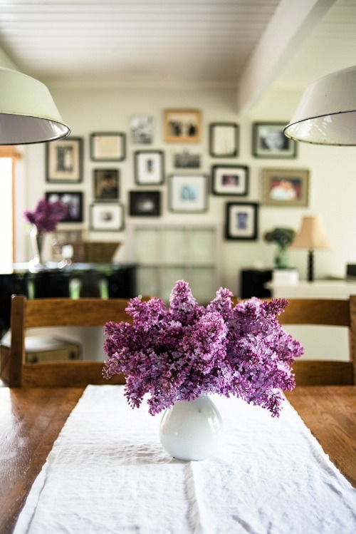Lilac table  | by Kimberly Taylor | via kiyoaki
