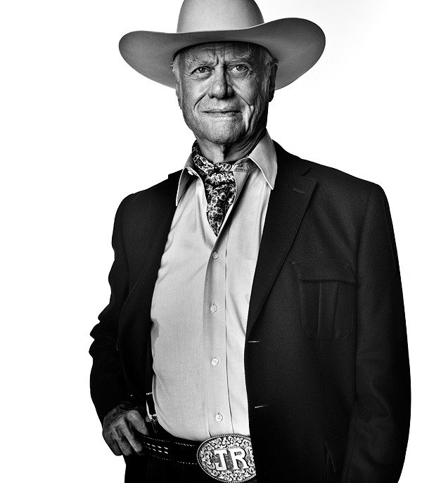 Portrait of Larry Hagman by Elizabeth Lavin. For the June 2012 D Magazine cover story on the return of Dallas.