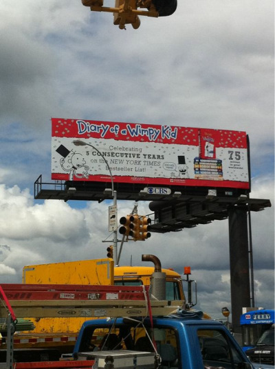 A billboard for a book! Awesome. Outside Javits Center/BEA 2012.