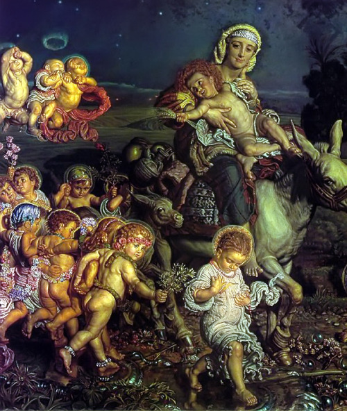 uglyrenaissancebabies:  William Holman Hunt, Triumph of the Innocents (detail) More like Triumph of the Rock-Hard Ab, amirite? And holy shit, loving Perm Christ. Maybe he was immaculately born with it — maybe it's Maybelline.   (submitted by Ellie)