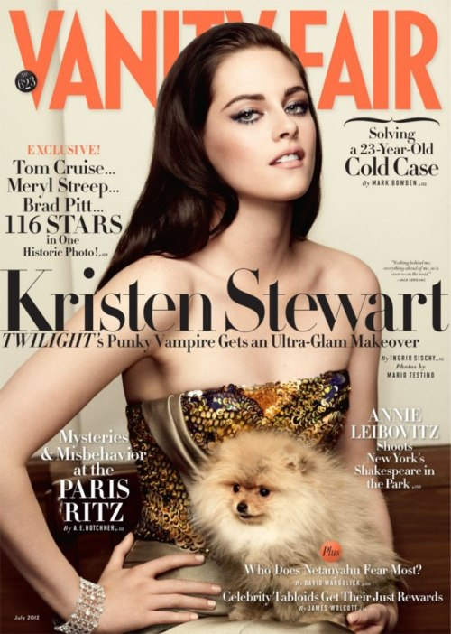 Miss July. Kristen Stewart photographed by Mario Testino.