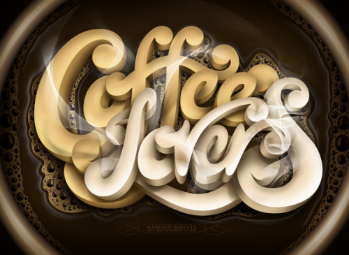 Typeverything.com - Coffee Lovers by Marcelo Schultz (via Typography Served)