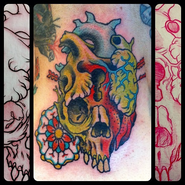 thanks to andy for letting me do this rad banger on the back of his neck, and making the trip from SF to do so! mike moses www.thedrowntown.com (Taken with instagram)