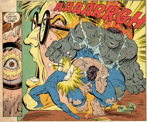 Bruce Banner Transforming Into The Incredible Hulk By Todd McFarlane