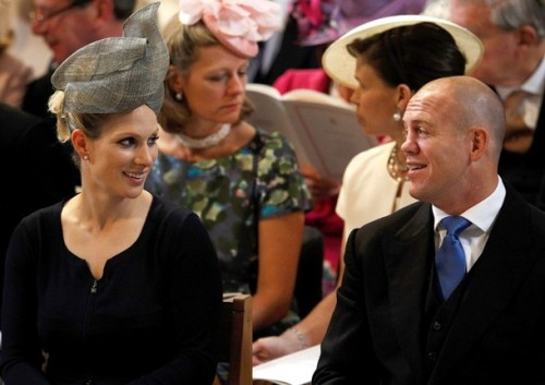 Zara Phillips Tindall, daughter of HRH Princess Anne, Princess Royal, and her husband, Mike Tindall, at the Service of Thanksgiving.
