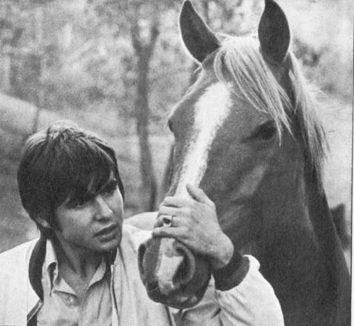 50 pictures of Davy Jones - 48/50  A boy and his Horse…it's a beautiful thing.