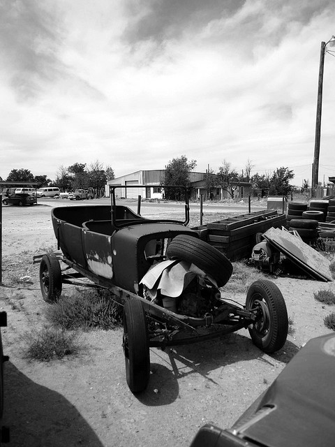 L1060984.JPG on Flickr.Found this old phaeton while stopped for food in Marfa, Texas, 2007.