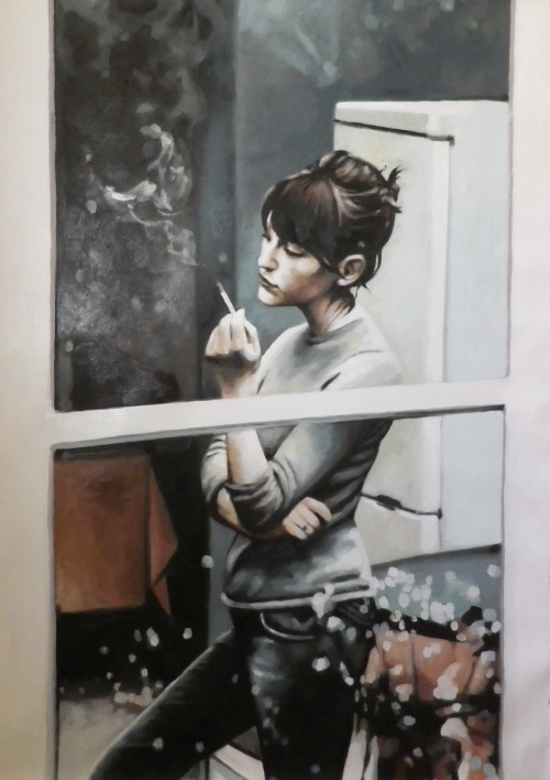 thomassaliot:  Window smoke just finished Oil on canvas