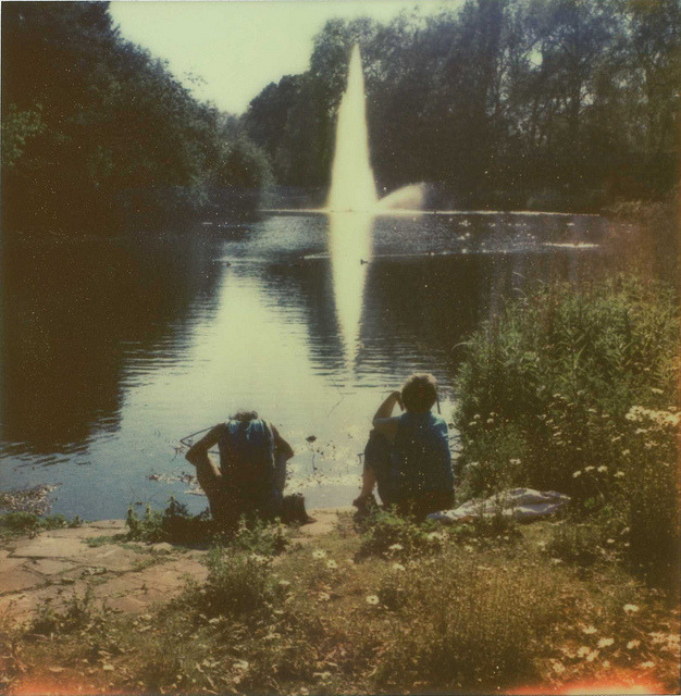 New PX70 Color Shade film from the Impossible Project (12/11 batch). I think this is the best film they've yet made.  Like all Impossible Project films, it needs careful handling (they're not joking about it being sensitive to light & temperature!)  I feel it still has a way to go before it rivals original Polaroid films like Time Zero - but with every new version, they're getting closer & closer….