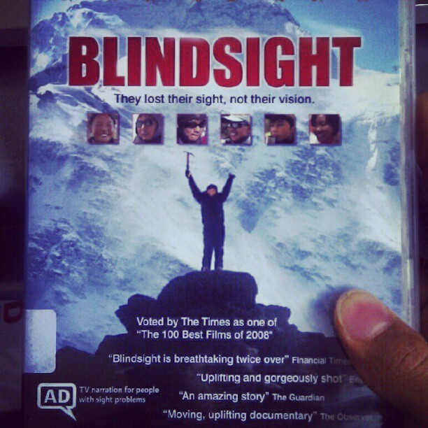 Just got a crazy buzz from watching the first #30 #minutes of this film #BlindSight .. blind people are so #Brave They #lost their #sight not their #vision .. someone else is happy with less than what you have :)   (Taken with instagram)