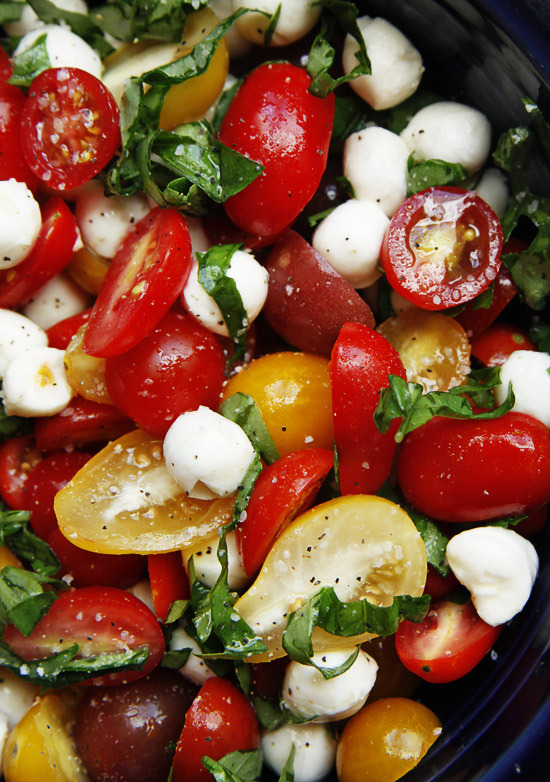 Tomato Basil Mozzarella Salad Recipe (click on image)