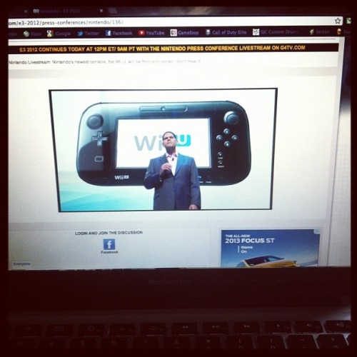 Laying in bed watching the live stream of the #E3 Nintendo Press Conference! (Taken with instagram)