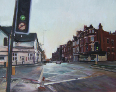 Archway Road North London my painting by Captain Wakefield on Flickr.oil 16 x 20 inches