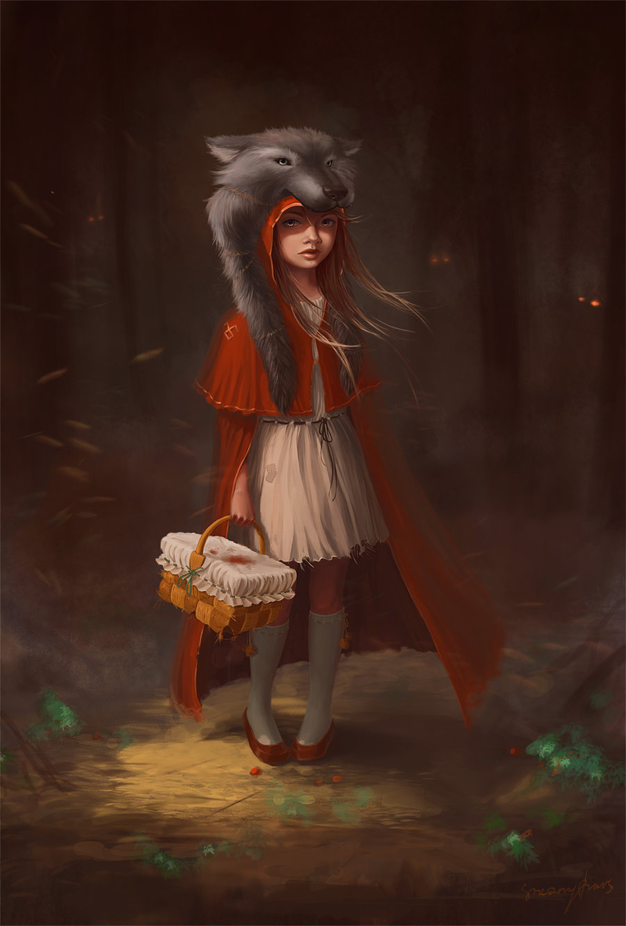 illustrateyourworld:  Red Riding Hood by ~SneznyBars
