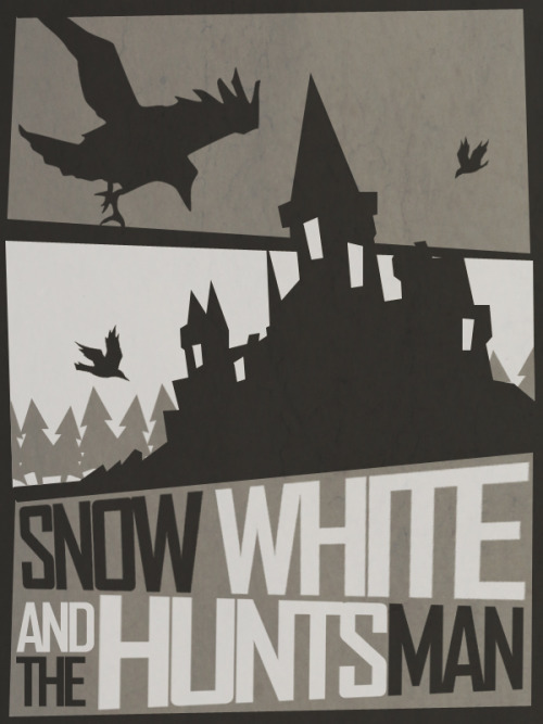 minimalmovieposters:  Snow White and the Huntsman by Andrew Tucker  Wooo I made it again! Thanks minimalmovieposters!