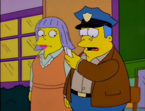 springfield-vs-shelbyville:  - Okay, Chief, enjoy Bob Saget. -  Heh, it's Bob Seger….Aw crap.