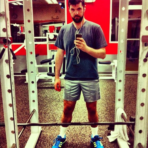 fuzzpup:  the red gym #gpoy #workout (Taken with instagram)