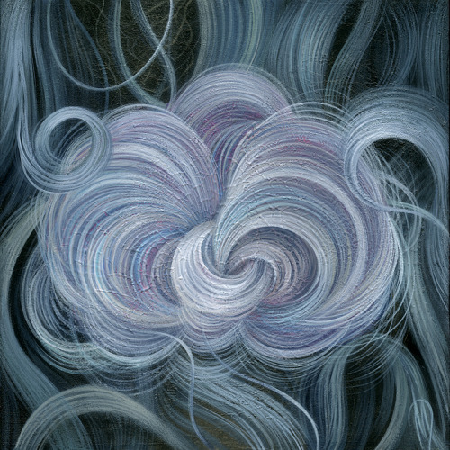 "danmayart:     Bloom       8"" X 8"", acrylic on wood panelBotanica Group Show at Genome GalleryCharlotte, NCwww.ohgenome.comwww.danmay.net"