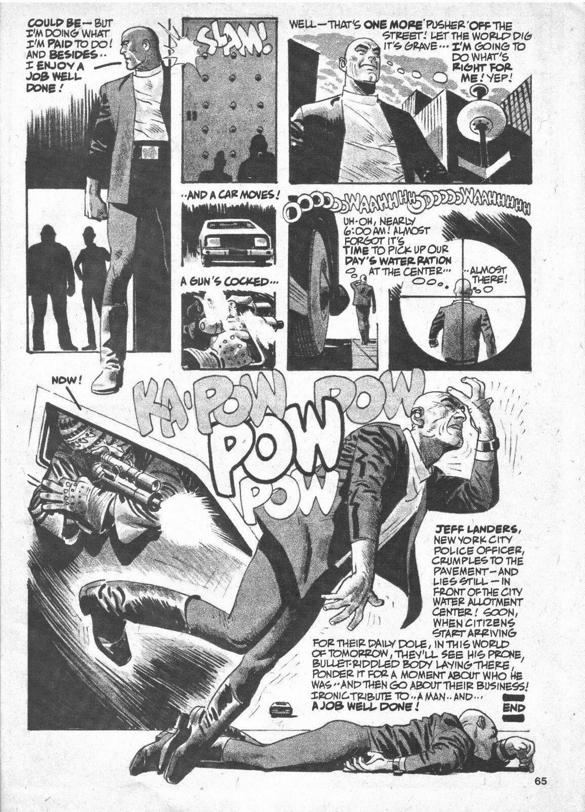"Alex Toth and Ric Meyers, ""A Job Well Done"" page 7 END"