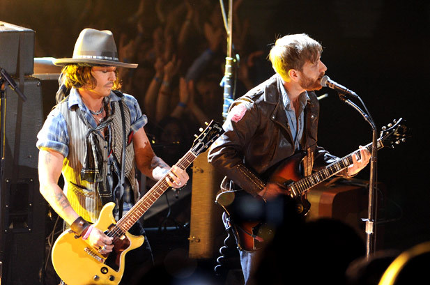 June 3: Johnny Depp and Dan Auerbach of The Black Keys perform onstage during the 2012 MTV Movie Awards in Universal City, California.