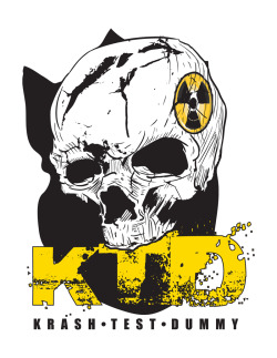 Logos I did for my friends BMX Stun team - KRASH TEST DUMMY (https://www.facebook.com/groups/5115023587/) - A-wire (https://www.facebook.com/a.wire) team leader / body piercer  (https://www.facebook.com/holesbyawire) The last logo on the shirt is the chosen logo, anyway one of my must fun projects.  Hit them up on Fb- Cheers!